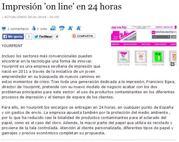 Yourprint en el Diario de Sevilla