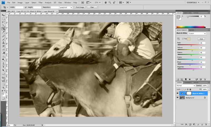 Conseguir tono sepia en Photoshop