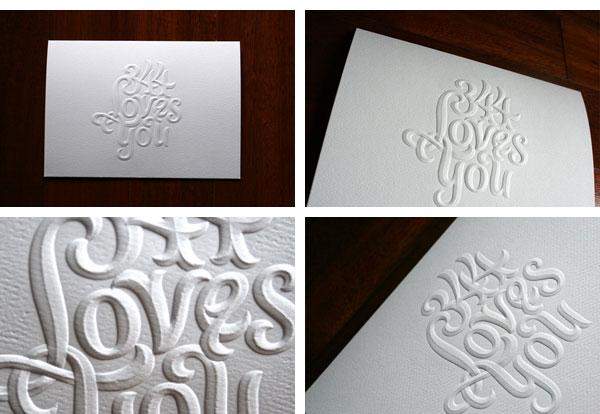 El golpe seco en imprenta