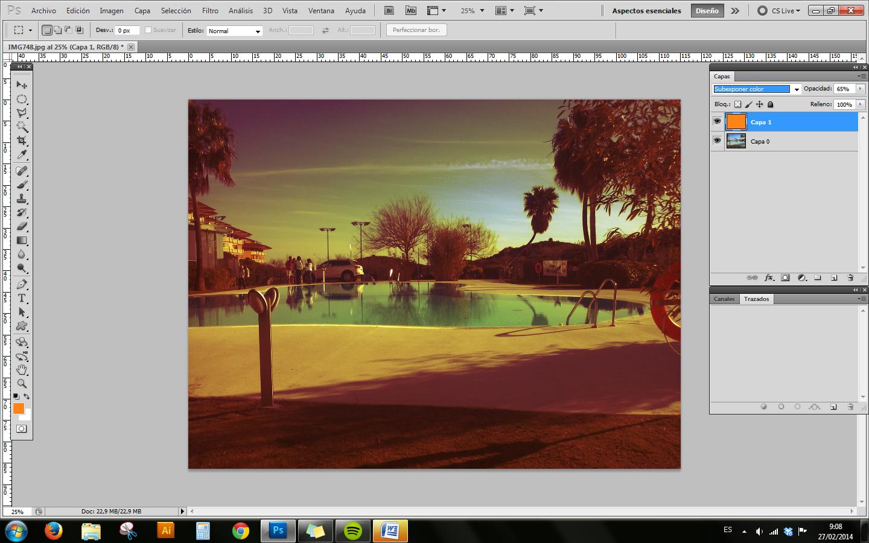 Cómo realizar un virado de una imagen
