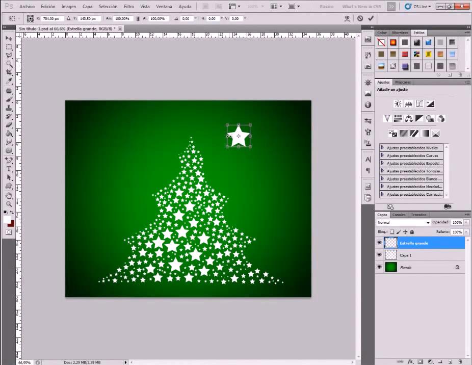 Tutorial Photoshop: cómo diseñar un árbol de Navidad . Información
