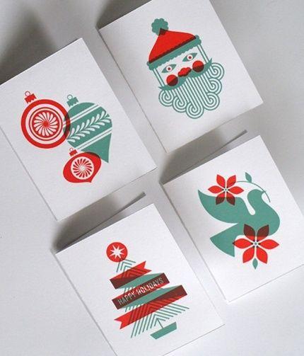 Las últimas tendencias en diseño gráfico en felicitaciones de Navidad