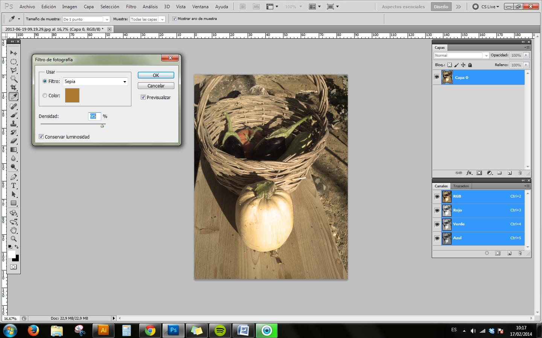 Como convertir a tono sepia una foto3