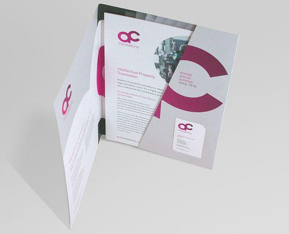 Diseño Gráfico De Carpetas De Presentación Y Usos Información