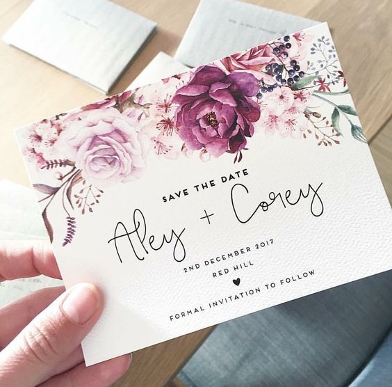 Lo último en diseño de invitaciones de boda