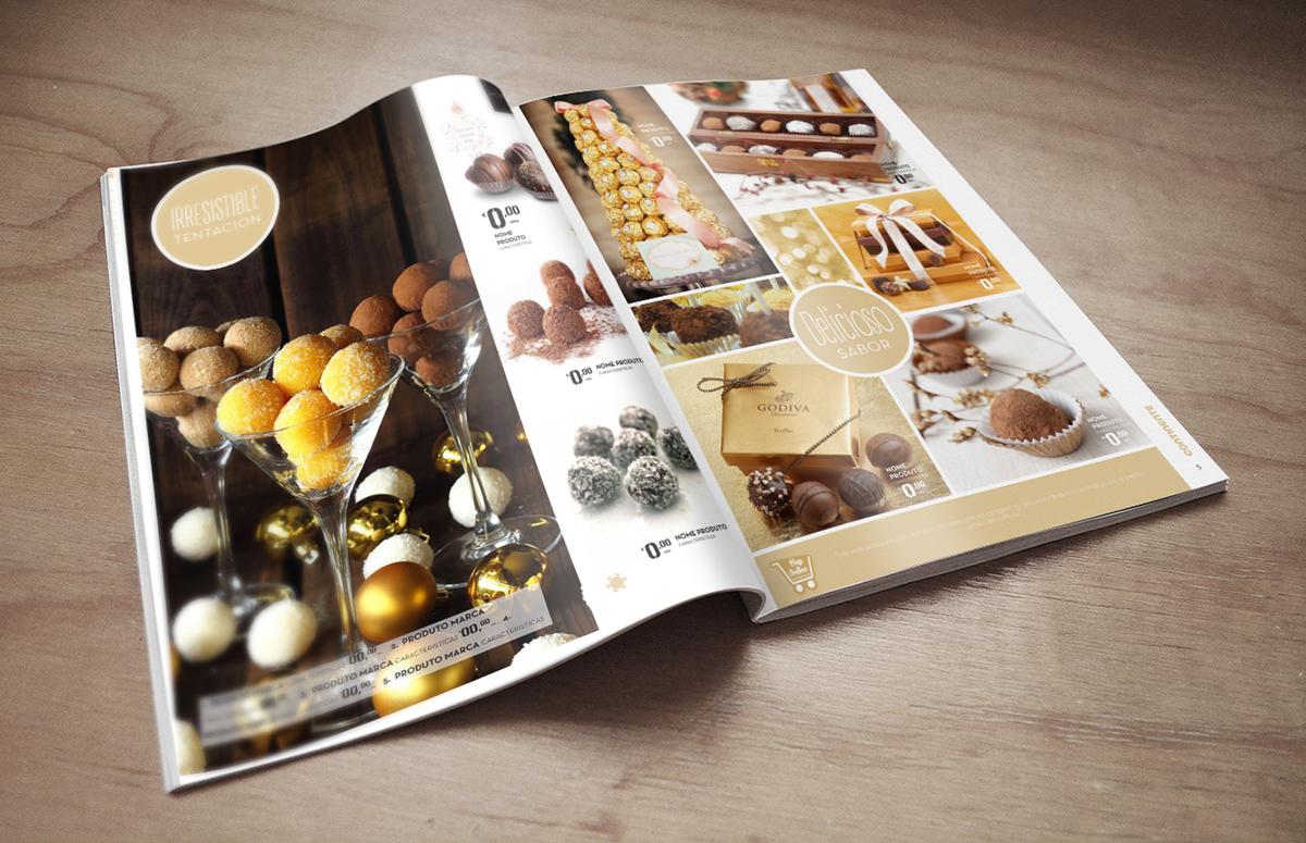 Cómo diseñar folletos de supermercados para la campaña de Navidad