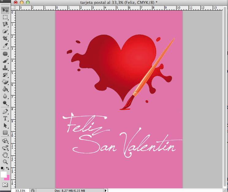 Tutorial: Cómo diseñar una postal para San Valentín
