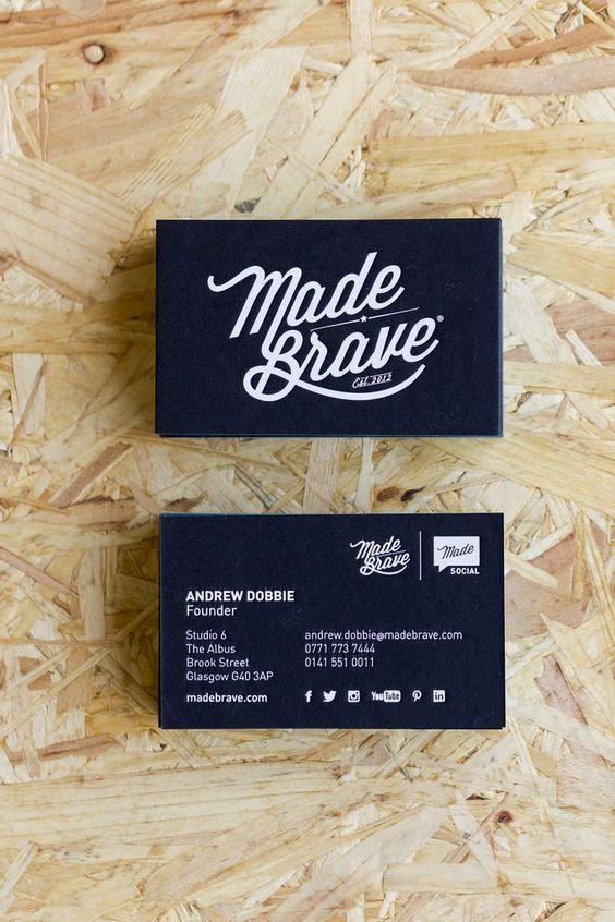 Las mejores tipografías para las tarjetas de visita . Información