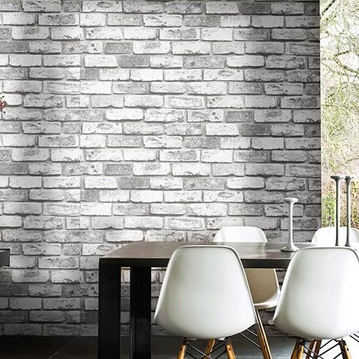 Vintage clásico de piedra del ladrillo del vinilo pvc 3D Wallpaper salón TV pared de fondo