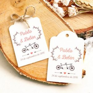 etiquetas detalles boda tandem just married 300x300