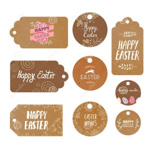 set easter kraft labels modern isolated tags greetings vector decor 58705956 1 300x293