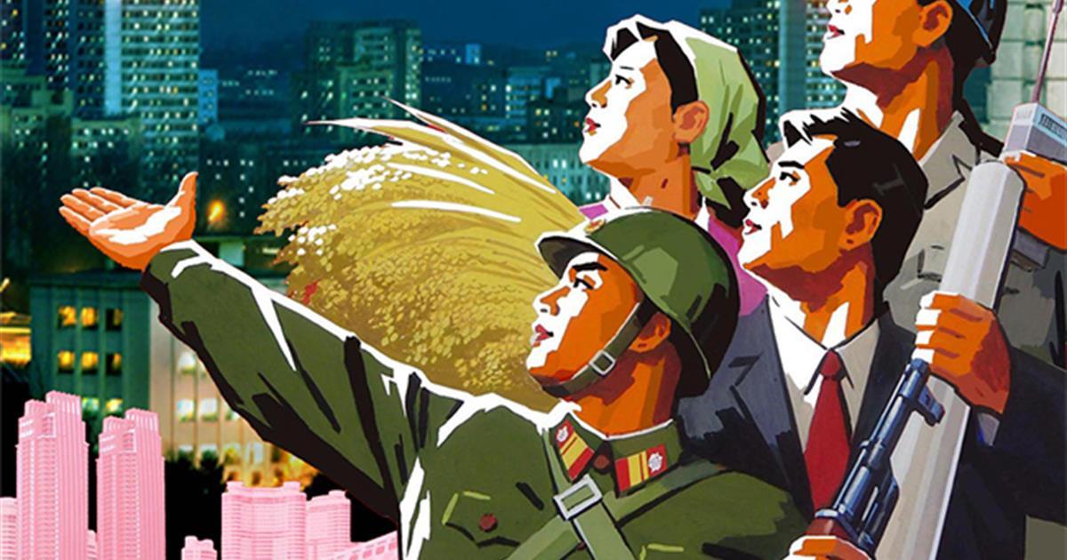 112017 North Korea propaganda poster